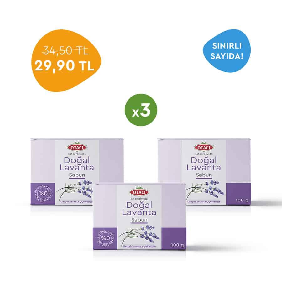 Otacı Doğal Lavanta Sabun Paketi